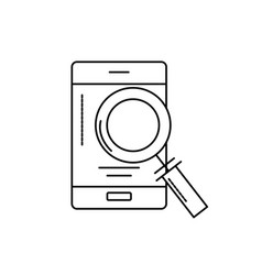 line smartphone technology information with vector image