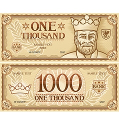 Thousand dollar banknote vector image