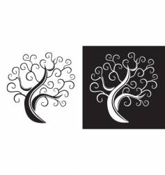 trees design vector image vector image