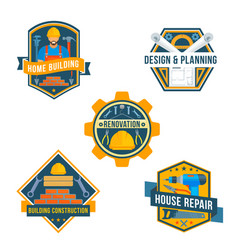 work tools icons for house repair design vector image