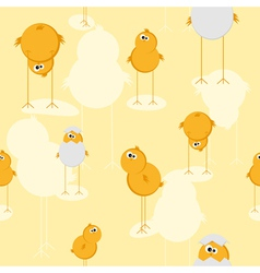 funny chicks pattern vector image