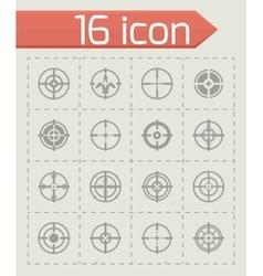 Crosshair icon set vector image vector image