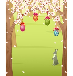 Easter forest vector image vector image