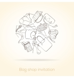 Fashion invitation card vector image