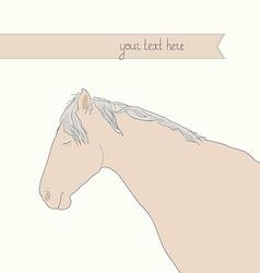 HorseHead3 vector image vector image