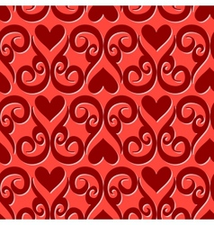 Seamless ornament love pattern vector image vector image