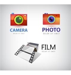 set of camera logos film icon vector image vector image