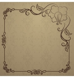 beautiful background with vintage cover vector image vector image