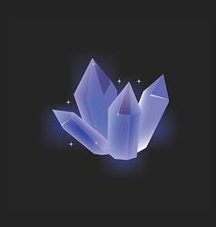 Blue crystal icon vector image