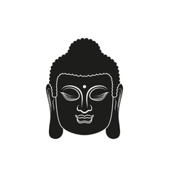 Head of Buddha isolated vector image