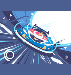 power racing car on speed track vector image vector image