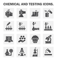 Robot Chemical Lab vector image vector image