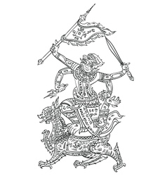 thai yantraHanaman vector image vector image