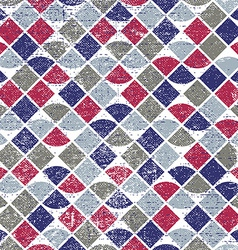 Abstract mosaic retro seamless pattern vector image