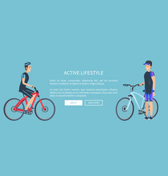 Active lifestyle bicyclists vector