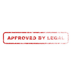 Approved by legal rubber stamp vector