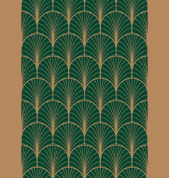 art deco geometric seamless pattern vector image