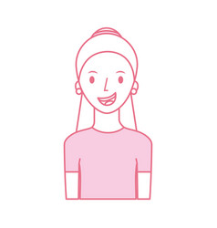 avatar woman portrait female person image vector image