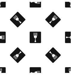 bar code scanner pattern seamless black vector image