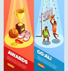 basketball awards vertical banners vector image