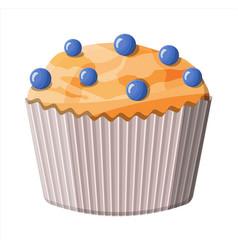 Bluberry muffin dessert chcolate cupcake vector