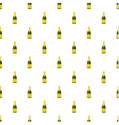 Champagne bottle pattern vector