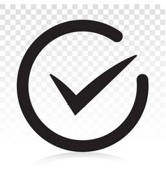 Checkmark confirm or checkbox line art icon vector