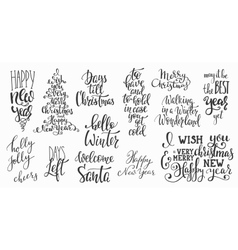 Christmas lettering huge big typography set vector image