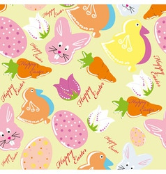 Colorful easter seamless pattern background vector image