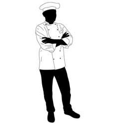 Cook chef confidently posing vector
