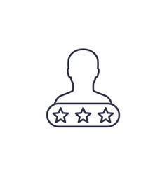 Customer satisfaction line icon vector