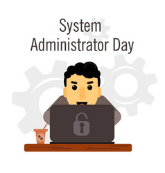 Day system administrator cartoon funny vector