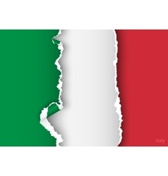 design flag italy from torn papers with shadows vector image