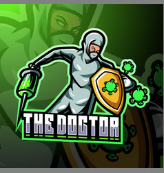 doctor esport mascot logo vector image