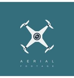Drone logo template vector