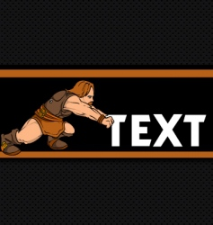 Dwarf pushing text vector