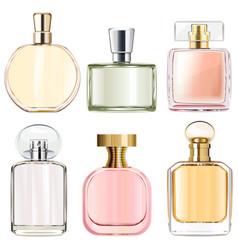 Female perfume bottles vector