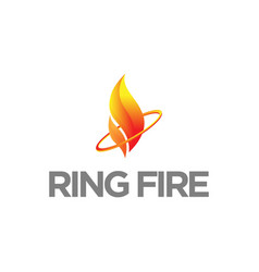 fire logo logo and abstract web icon vector image