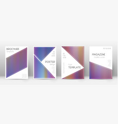 flyer layout triangle stylish template for brochu vector image