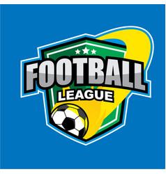 football league logo vector image