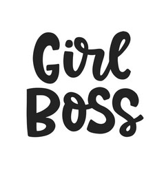 Girl boss feminism quote slogan vector