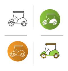 golf cart icon vector image