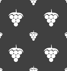 Grapes icon sign Seamless pattern on a gray vector