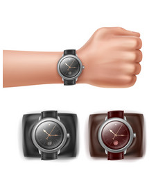 Hand with watches vector