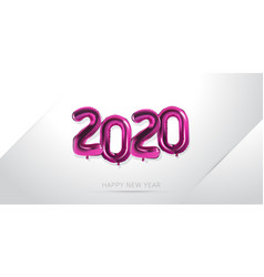 Happy new year 2020 with balloon numeral vector