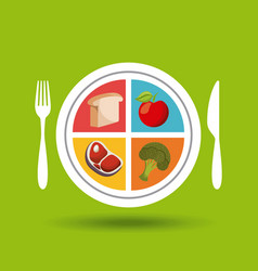 Healthy food for dieting vector