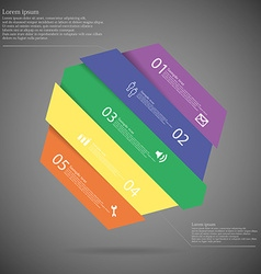 Infographic template with askew divided hexagon to vector