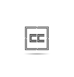 Initial letter cc logo template design vector