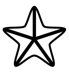 isolated seastar icon vector image