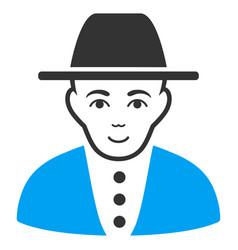 Jew flat icon vector